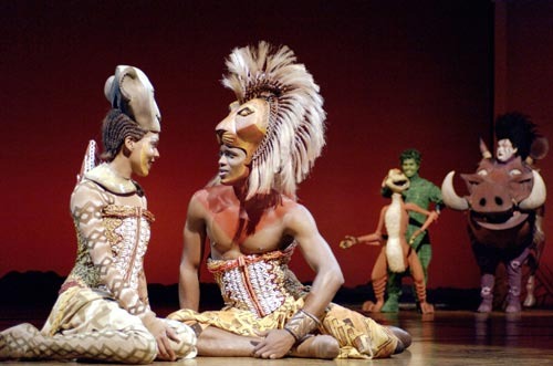 Kostuums Lion King.Lion King Musical